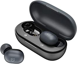 SoundPEATS TrueMini True Wireless Earbuds TWS Bluetooth 5.0 Earphone with 7.2mm Enhanced Drivers Touch Control, Easy-Pair, IPX5, Built-in Mic 15 Hours
