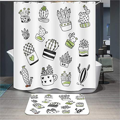 Baisheng Waterproof Mold Proof Resistant Bad Vorhang Waschbar Duschvorhang Polyester Stoff 3D Mehltau Beweis Vorhang mit Haken (Lila Blüten 1-39 * 70Inch/100 * 180cm)