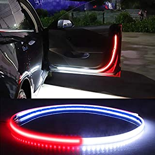 Car Interior Door Welcome Light LED Safety Warning Strobe Signal Lamp Strip 120cm Waterproof 12V Auto Decorative Ambient L...