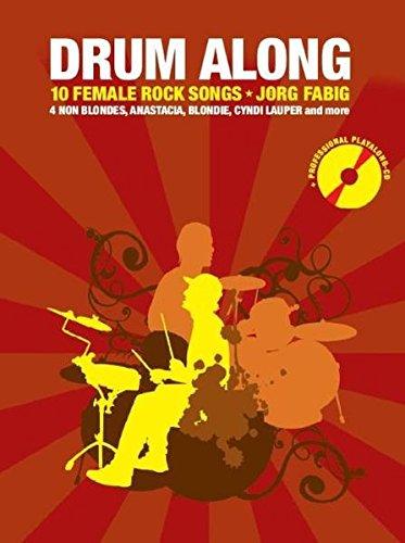 Drum Along - 10 Female Rock Songs: Noten, Bundle, CD für Schlagzeug