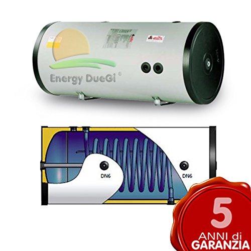 elbi Hervidor de agua acumulación 300LT, LED COB intercambiador Fijo para producción de agua caliente sanitaria, instalación vertical O Horizontal, Solar Térmico