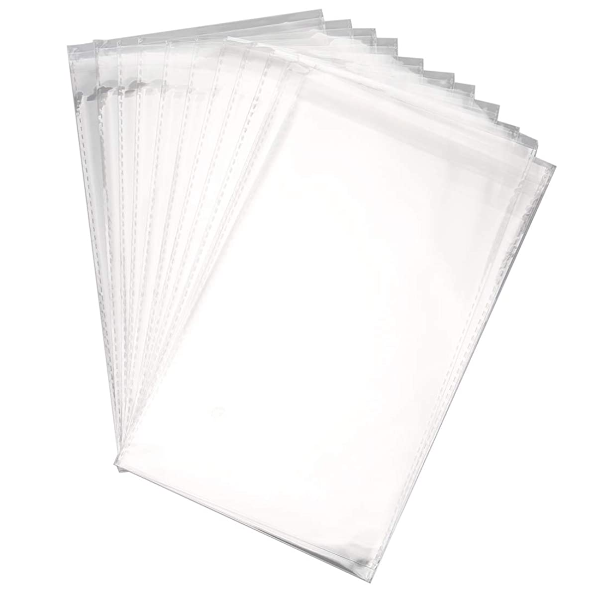 """Foraineam 400 Pcs 6"""" x 9"""" Clear Resealable Cellophane Bags Cello Bags, 3.5 Mils Thick Candy Bread Cookie Poly Bags"""