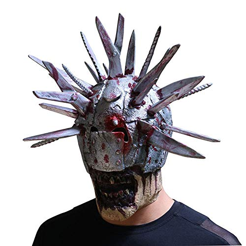 Screaming Corpse Death Game Scary Mask - Horror Masker Enge Latex Volledige Head Pruik - Halloween Cosplay Kostuum van de Partij Props LOLDF1