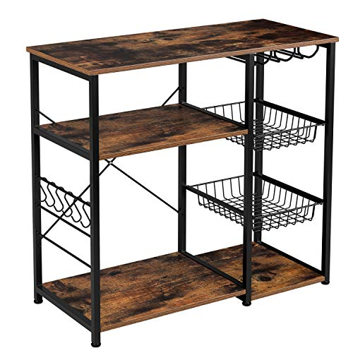 Homfa Kitchen Baker's Rack, 3-Tier Utility Storage Shelf...