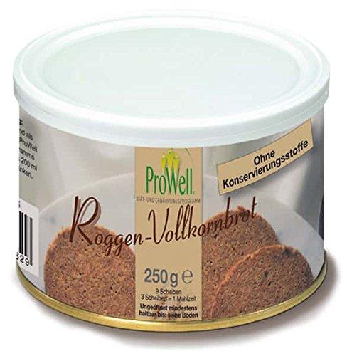 ProWell Diät- und Ernährungsprogramm - Roggen-Vollkornbrot kalorienreduziert - 250 g (9 Scheiben = 3 Portionen)