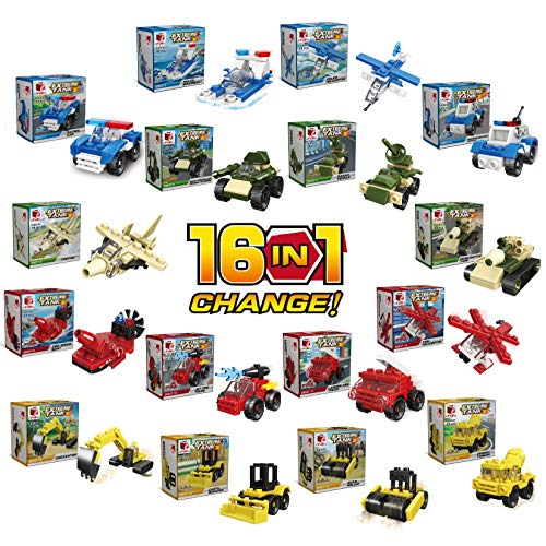 inFUNity Mini 16 in 1 Building Blocks Compatible with Lego Party Favors for Kids, Prizes for Kids Classroom, Goodie Bag Fillers