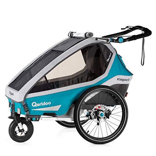 Qeridoo Kidgoo1 Sport Kinderfahrradanhänger (2020/2021) - Petrol