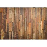 Haoyiyi 9x6ft Wood Texture Backdrop Brown Wooden Board Plank Retro Texture Rustic Wood Faux Panel Flat Photography Background Adults Kids Portrait Cake Smash Party Photo Studio Props