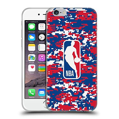 Head Case Designs Ufficiale NBA Mimetizzazione Digitale Logoman Cover in Morbido Gel Compatibile con Apple iPhone 6 / iPhone 6s