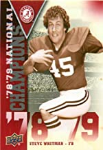 Best 2012 Upper Deck Alabama National Champions #NCSW Steve Whitman - Football Card Review