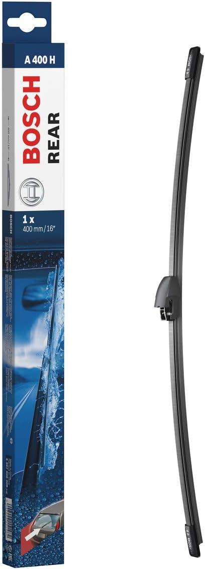 Bosch Rear Escobilla limpiaparabrisas A400H, Longitud: 400 mm – 1 escobilla limpiaparabrisas para la ventana trasera