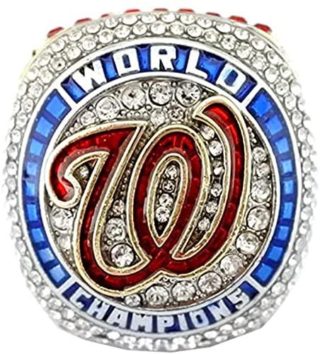 GJPSXTY 2020 Nationals World Baseball Championship Ring Campeonato Anillo para los fanáticos de los Hombres de la colección Regalo de visualización campeón del Recuerdo de réplica, 11 Without Box