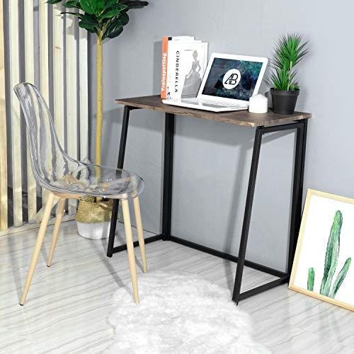 HOMEMAKE FURNITURE Escritorio plegable, escritorio de computadora pequeño Escritorio de oficina en casa Mesa plegable Escritorio de estudio Estación de trabajo para oficinas de espacio pequeño 80*44*74cm Nuez