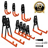 ORASANT 10-Pack Steel Garage Storage Utility Double Hooks, Heavy Duty for Organizing Power Tools, Ladders,...