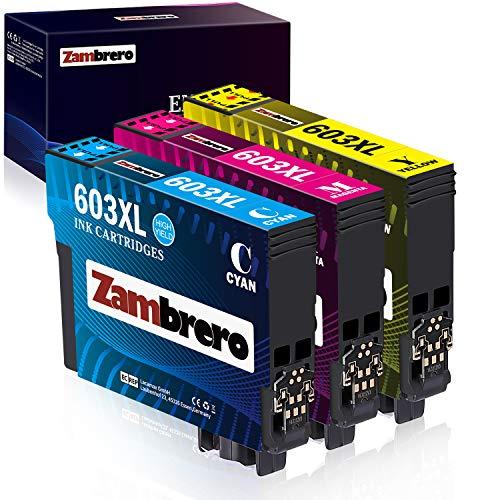 Zambrero 603XL Farbe Patronen Ersatz für Epson 603 Druckerpatronen Kompatibel mit Epson Epson Expression Home XP3100 XP2100 XP3105 XP4100 XP2105 XP4105, Epson WorkForce WF-2830DWF WF-2830 WF2830