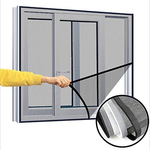 Ezoon Fliegengitternetze, Katzenschutznetz für Fenster, halbtransparent, vollständiger Rahmen, Katzennetz, Insektenschutz, Schutz-Set mit selbstklebendem Klettverschluss
