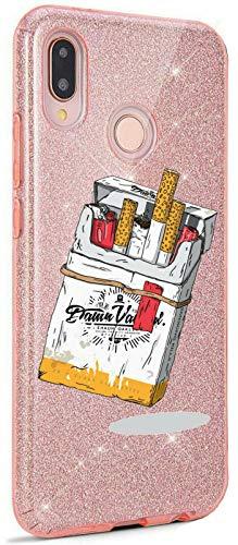 Mixroom - Custodia Cover Case in TPU Morbido con Brillantini Glitter Fucsia per iPhone 6 / 6S Fantasia Pacchetto di Sigarette codice BR299