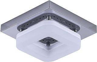 Artpad Montaje en superficie Cuadrado Lámpara de techo de acero inoxidable Base Pasillo Porche Balcón Lámpara Iluminación interior Techo Luz LED 12W Luz blanca
