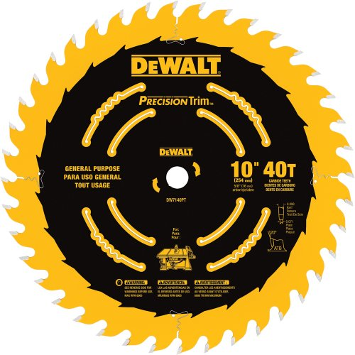 DEWALT 10-Inch Miter / Table Saw Blade,...