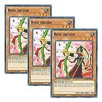 【 3枚セット 】遊戯王 英語版 LDS2-EN105 Rose Archer 薔薇の聖弓手 (ノーマル) 1st Edition