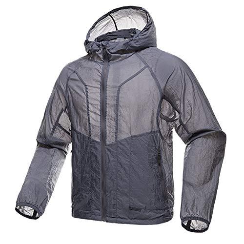 HANGON Sports de plein air camping militaire hommes chemise manteau uv chemise protection solaire vêtements manches longues, gris, XL CHINA
