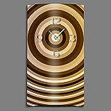 DIXTIME Orologio da Parete in Stile retrò Anni '70, Design Moderno, Silenzioso, Senza ticchettio, 3DS-0217