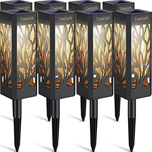 TomCare Solar Lights Outdoor Upgraded Bright Solar Pathway Lights Bigger Size Decorative Solar product image