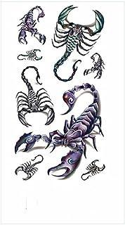 Tijdelijke Tatoeages 3 Vellen Waterdichte Fake Tattoo Tijdelijke Tattoo Sticker Cross Star Engels Brief Rose Body Art Fake...