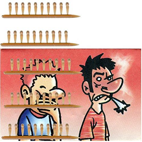 Spassprofi 50 Knalleinsätze für Zigarren Scherzartikel Raucher Knallzigaretten Knaller
