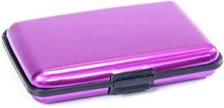 Portable Anti-Magnetic Metal ID Credit Card Wallet Holder Purse Pocket Case MN Purple