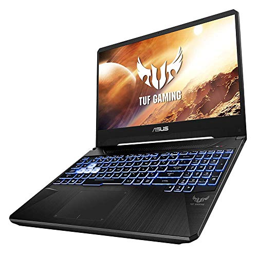 ASUS TUF Gaming FX505DT (90NR02D2-M09250) 39,6 cm (15,6 Zoll, Full HD, matt) Gaming Notebook (AMD R7-3750H, NVIDIA GeForce GTX1650 (4GB), 8GB RAM, 512GB SSD, Windows 10) Black