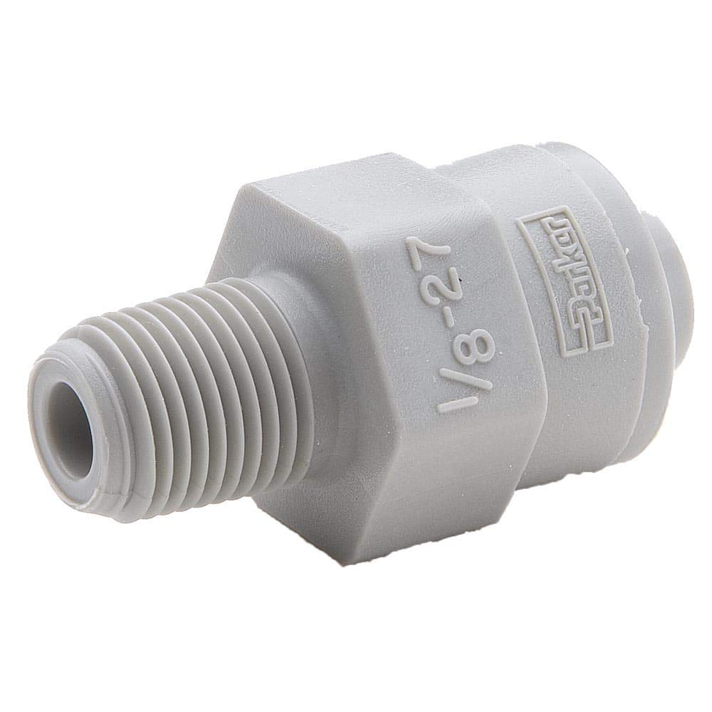Gray Acetyl Pack of 20 Acetyl 1//4 Push-to-Connect Tube x 1//4 Male NPTF Parker Hannifin A4MC4-MG-pk20 TrueSeal Male Connector Fitting with EPDM Seal