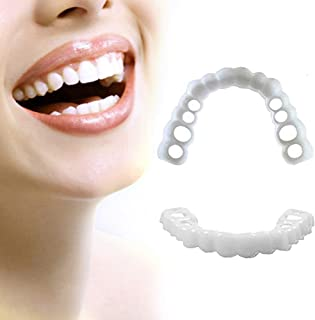 HBBYT Smile Dientes para Snap on Smile Confortable Chapa