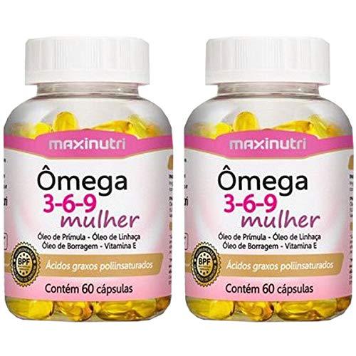 Ômega 3-6-9 Mulher - 2 unidades de 60 cápsulas - Maxinutri