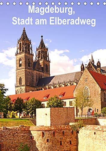 Magdeburg, Stadt am Elberadweg (Tischkalender 2021 DIN A5 hoch)
