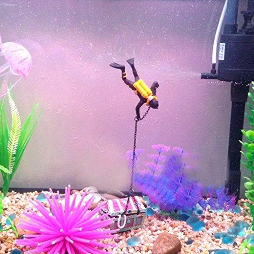 Switty Aquarium Zierde Dekoration Schatztaucher