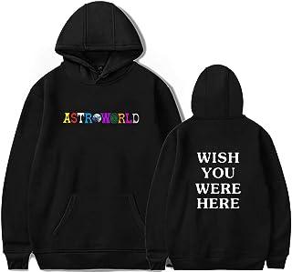 PANOZON Homme Travis Scott ASTROWORLD Sweat-Shirts Sweat à Capuche Travis Scott Astroworld pour Hommes