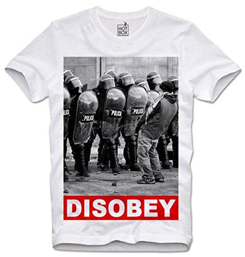 Hotbox T Shirt Disobey Anti Capitalism Blockupy Kapitalismus L