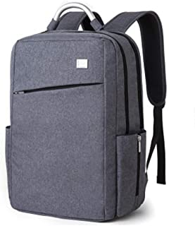 Djyyh 15-inch Men's Backpack Apple Laptop Bag Business Bag Unisex Durable Portable Travel Outdoor Sports Backpack 35L (Color : Gray)