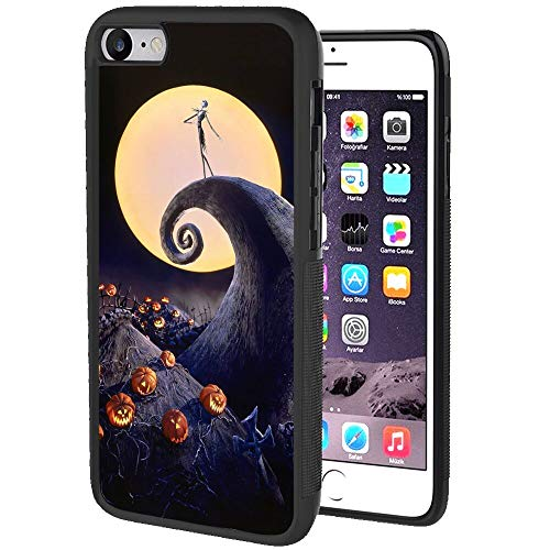Apple iPhone SE2(2020), iPhone 7, iPhone 8 Cell Phone Case (4.7-Inch) Amazing Before Christmas Black Burton Great Halloween Horror Jack O Lanterns Jim King Legend Moon Nightmare Pumpkin