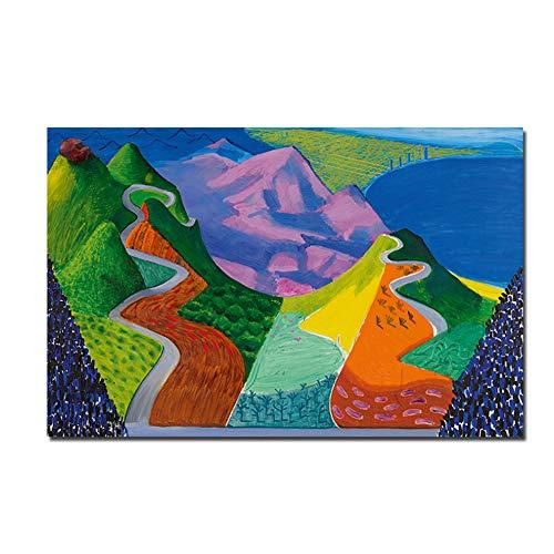 Schilderij olie natuur landschap behang wandkunst poster en afdrukken decoratieve afbeeldingen canvas schilderij 40x60 cm/15.7