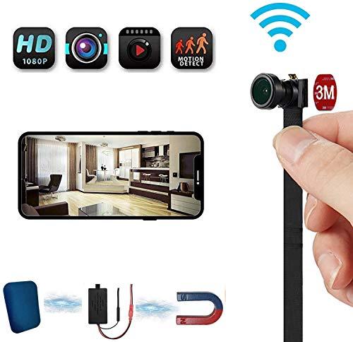 WiFi Spy CAM 4K vídeo, Hidden niñera Ayuda de la Leva de detección de Movimiento y visión Nocturna, Tiny cámara inalámbrica Flex 4-6 Horas el Tiempo de Trabajo, la Seguridad en casa,16g
