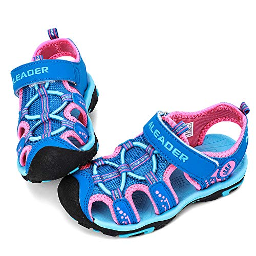 ALEADER Kids Youth Sport Water Hiking Sandals | Summer Outdoor Walking Sneakers(Toddler/Little Kid/Big Kid) Royal Blue/Fushia 3.5 M US Big Kid