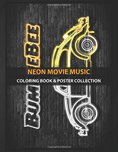 Coloring Book & Poster Collection: Neon Movie Music Transformers Bumblebee Action Movies
