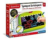 Clementoni - 16256 - Sapientino - Lavagna Scrivimpara - lavagna LED luminosa per scrivere e disegnare, lavagna fluorescente, gioco educativo 3 anni, gioco creativo