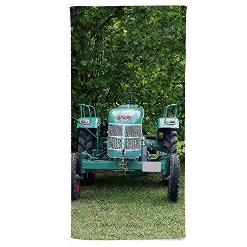 fotobar!style Duschtuch 70 x 140 cm Historische Traktoren