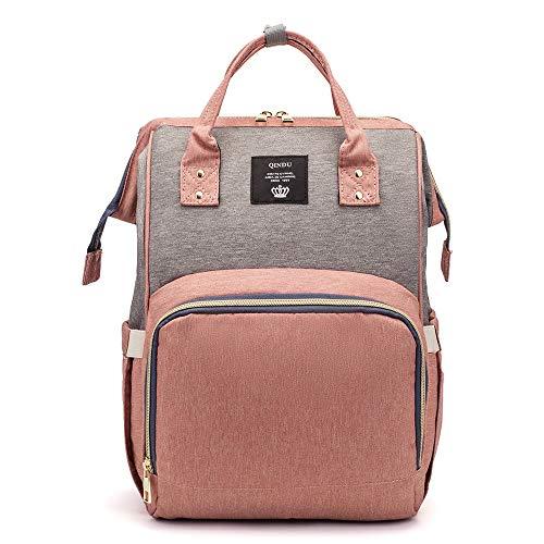 Farblich passende Wickeltasche, Baby-Pflege, großes Fassungsvermögen, für Mütter, Wickeltasche für Rollstühle, Rosa