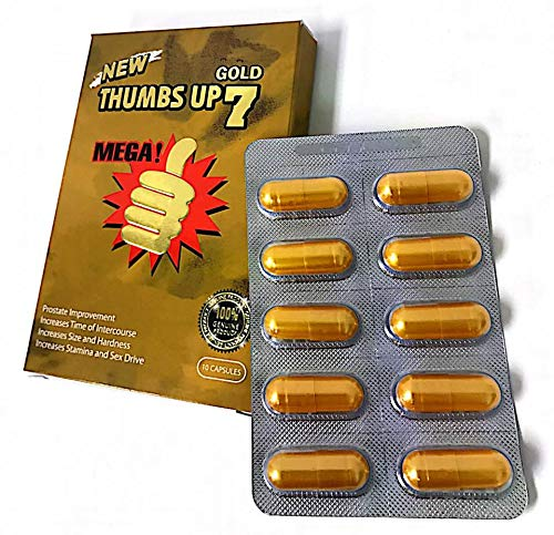Thumbs Up 7 Gold 10 Capsules Best Male Enhancing Natural Performance Capsules Most Effective Natural Amplifier for Performance, Energy, and Endurance (10 Pill)