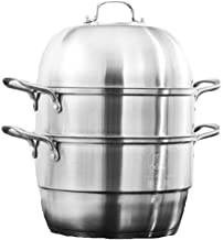 LJBH Composite Bottom Stainless Steel Steamer Set, Suitable For Household Kitchen Food Steamer, Suitable For Gas Stove/Ind...