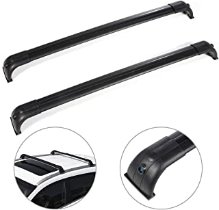 SCITOO fit for 2005-2009 Land Rover LR3 Sport Utility,2010-2016 Land Rover LR4 Sport Utility Aluminum Alloy Roof Top Cross Bar Set Rock Rack Rail